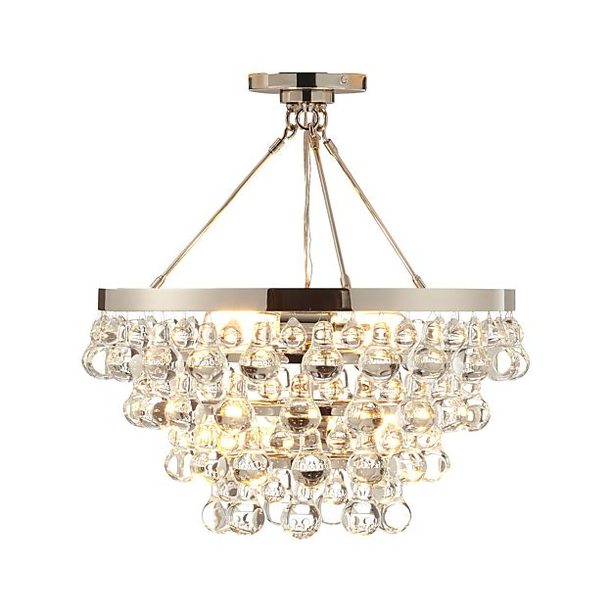 Lure polished nickel chandelier online shopping product by crate lure polished nickel chandelier arubaitofo Choice Image